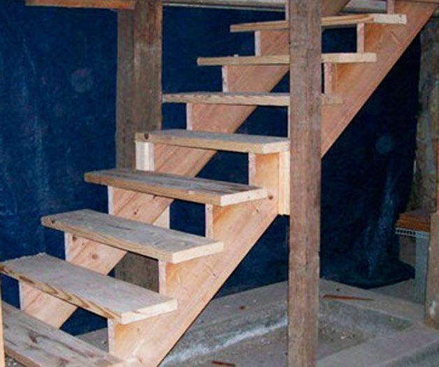 Деревянные лестницы своими руками для погреба