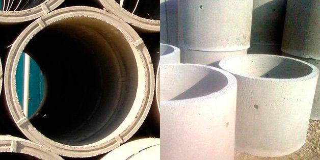 Бетонные кольца с замковым и обычным типом соединения