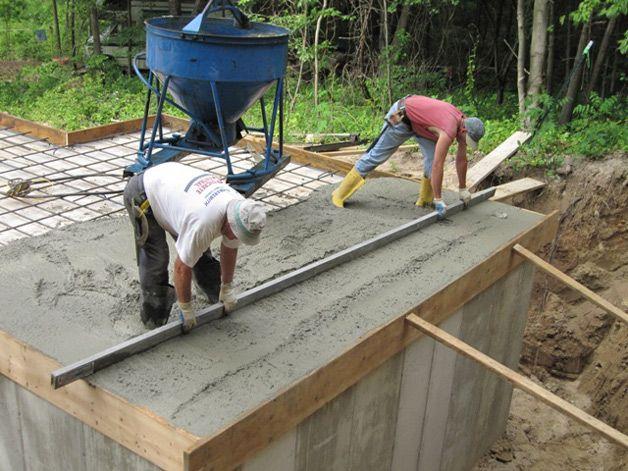 Изготовление подвала из бетона своими руками 5