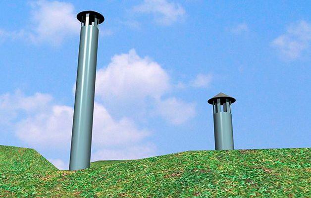 Вентиляционные трубы на погребе