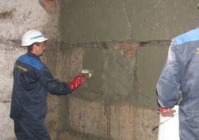 Ремонт стен подвала
