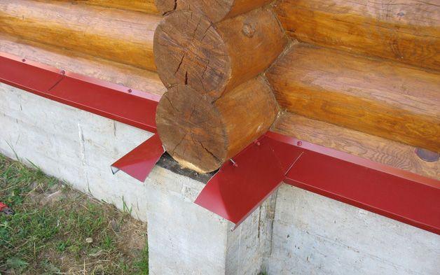 Как сделать отлив на фундамент деревянного дома - Раум Профи