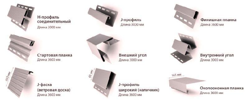 Разновидности планок для сайдинга