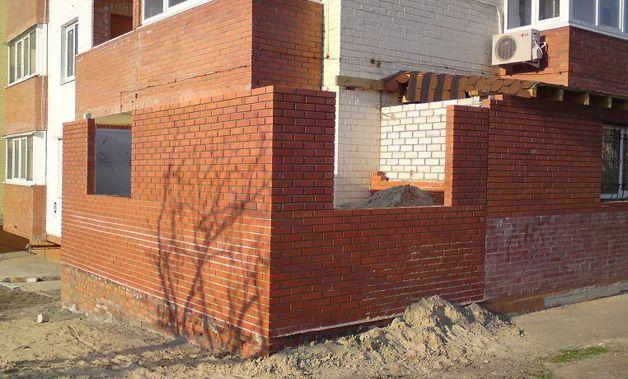 Стены из кирпича
