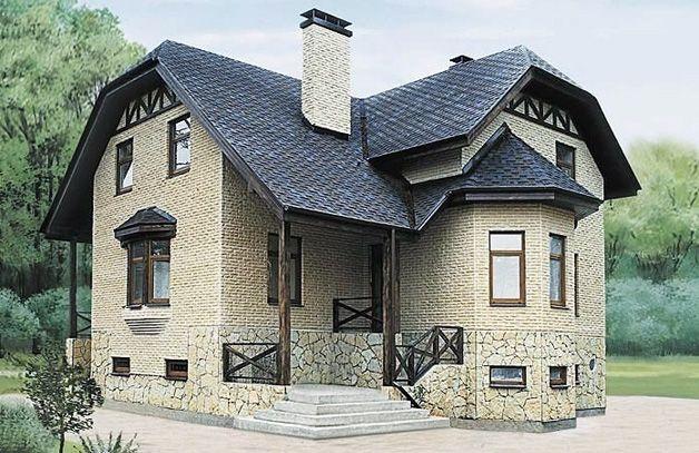 Дом с высоким цоколем