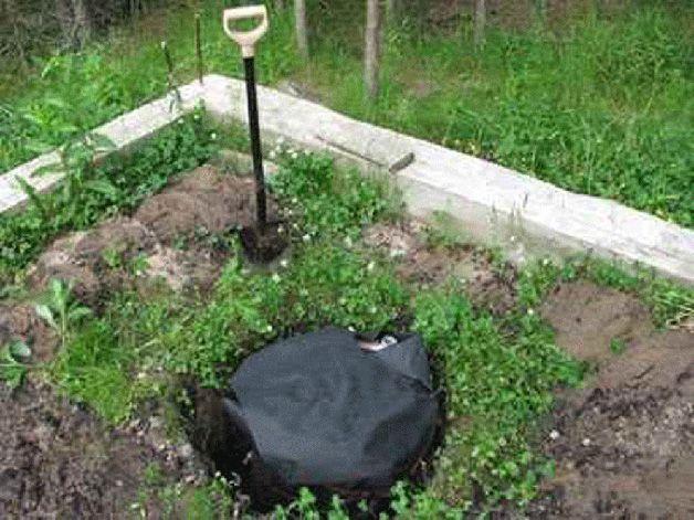 Погреб укрытый рубероидом