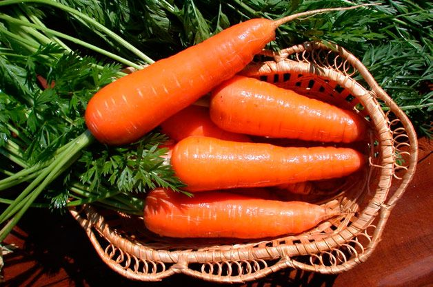Корзина с морковью