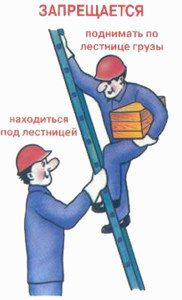 Рабочие на лестнице