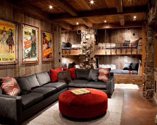 Комната отдыха в подвале