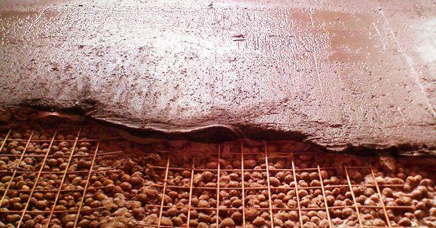 Керамзит под бетоном