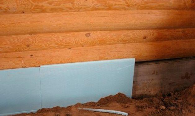 Утепление цоколя деревянного дома