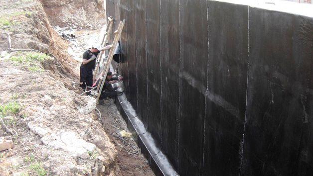 Обмазочная гидроизоляция по стенам наливной пол на крышу гаража