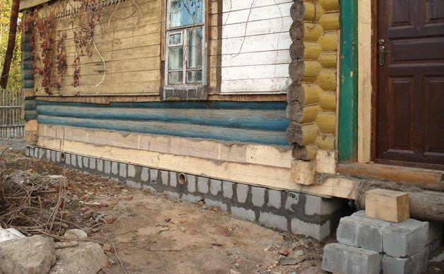 Основание деревянного дома